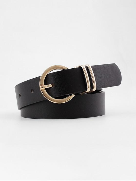 new Decorative Round Pin Buckle Belt - BLACK