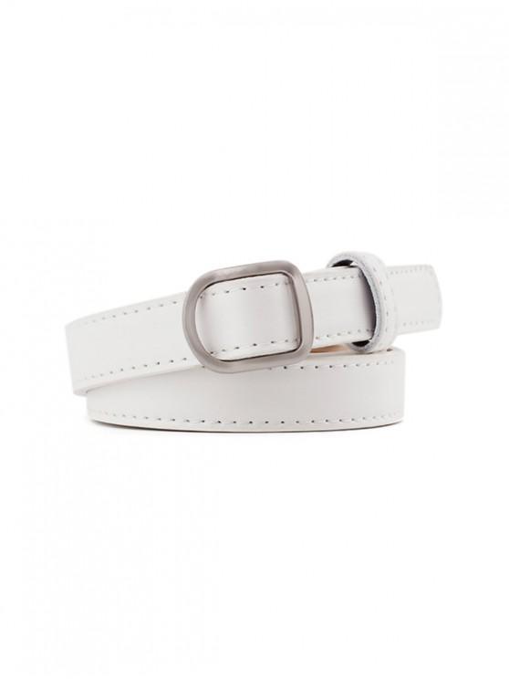 ladies Brief Jeans Waist Buckle Belt - WHITE