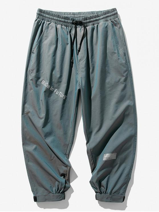Made In Future Graphic Elastic Waist Jogger Pants - ضوء سماوي 4XL