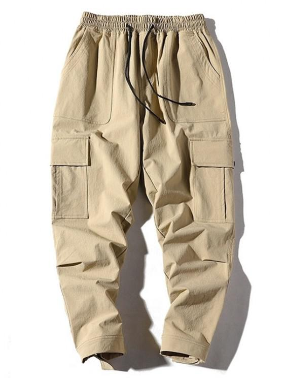 Seitentaschen Applique Cargo Hose - Khaki S