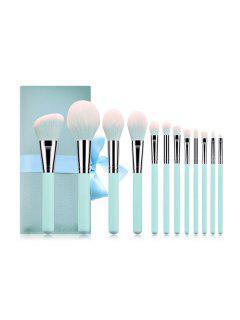 12Pcs Multi-function Makeup Brushes Set - Powder Blue 12pcs