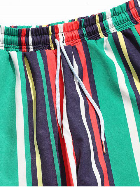 Pantalones Jogger a Rayas con Estampado de Rayas - Multicolor-A S Mobile