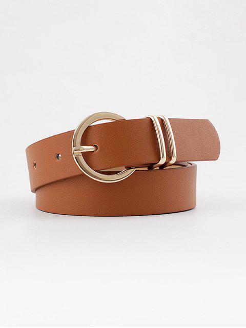 Decorative Round Pin Buckle Belt - البني الفاتح  Mobile