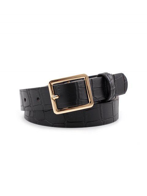 lady Animal Pattern PU Leather Waist Belt - BLACK  Mobile
