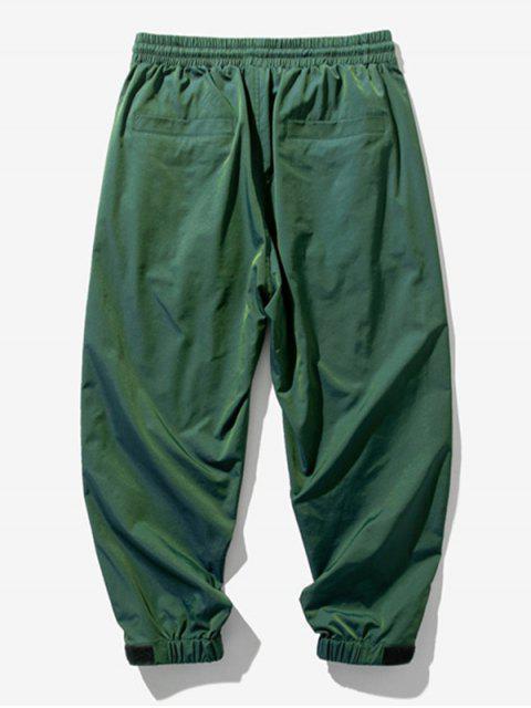 Pantalones Jogger Cintura Elástica Estampado Letras - Verde XL Mobile