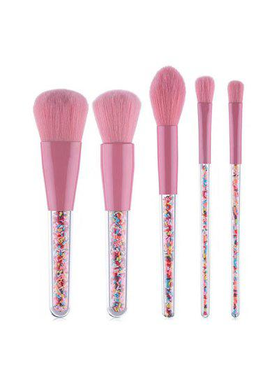 5Pcs Candies Handle Makeup Brushes Set - Pink Rose 5pcs