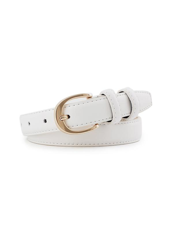 Alloy Buckle PU Leather Waist Belt