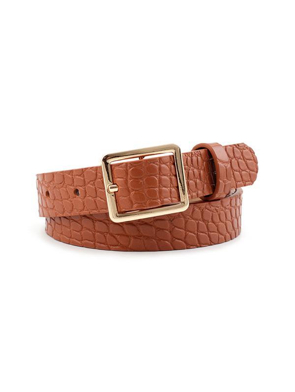 Animal Pattern PU Leather Waist Belt