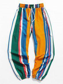 Contrast Stripes Print Jogger Pants