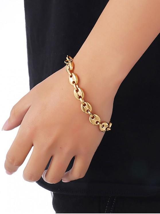 fashion 18K Gold Plated Hip-hop Bracelet - GOLDEN