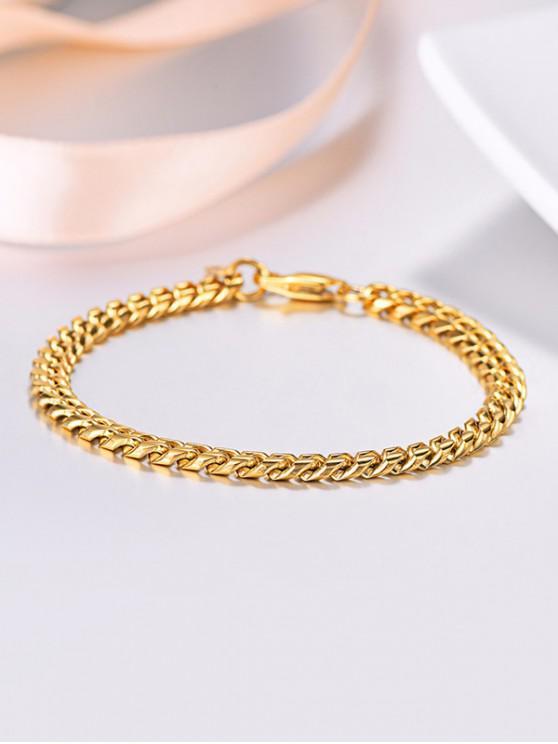 18K Gold Plated Chain Bracelet - ذهبي