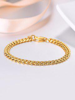 18K Gold Plated Chain Bracelet - Golden