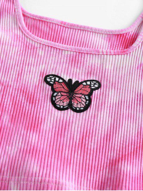 ZAFUL Top Bordado Borboleta Cortado - Luz rosa M Mobile