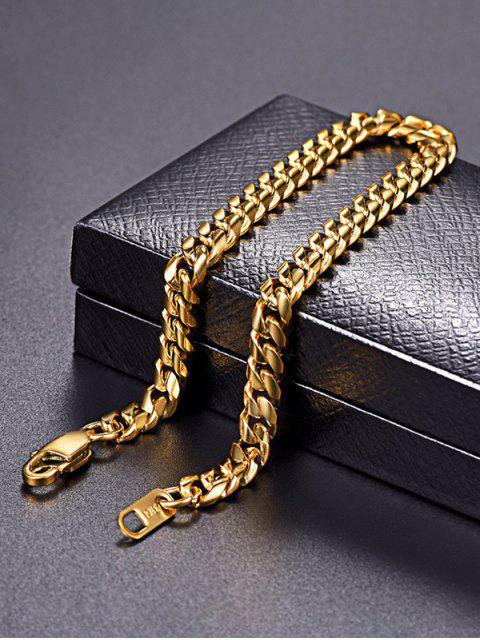 trendy 18K Gold Plated Chain Bracelet - GOLDEN  Mobile