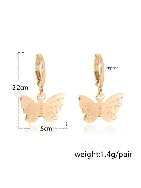 chic Butterfly Clip Earrings - GOLDEN 2.2*1.5CM Mobile