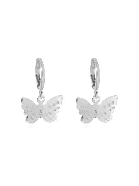 fancy Butterfly Clip Earrings - SILVER 2.2*1.5CM Mobile
