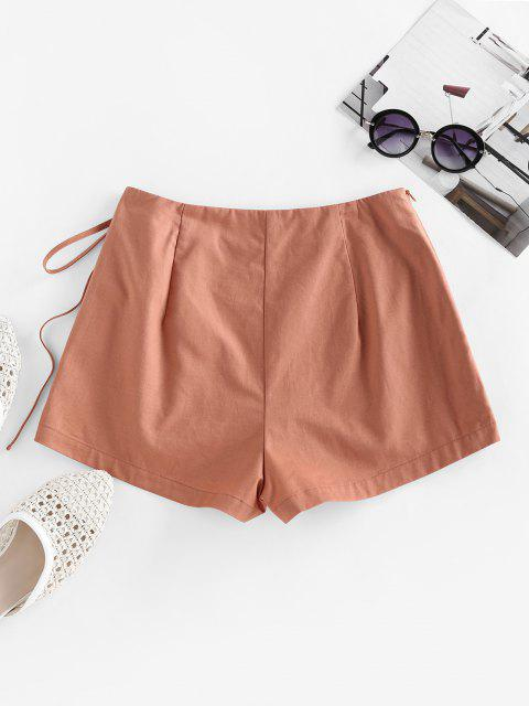 latest ZAFUL Self Tie Skorts - CHERRY RED S Mobile