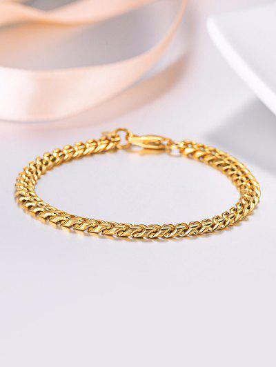 18K Gold Plated Chain Bracelet - Golden