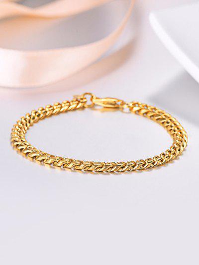 18 Karat Vergoldete Kettenarmband - Golden