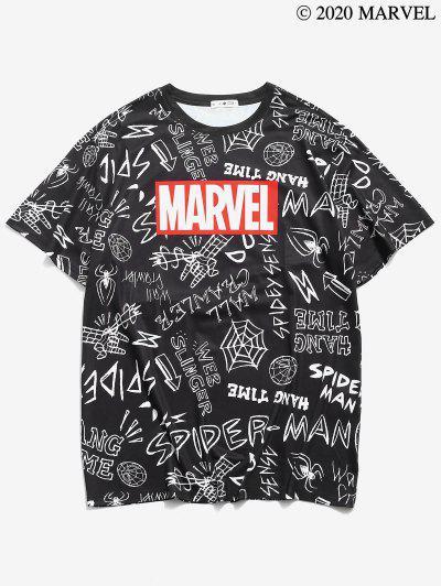 T-shirtGraphiqueMarvel Spider-ManImprimé - Noir Xl