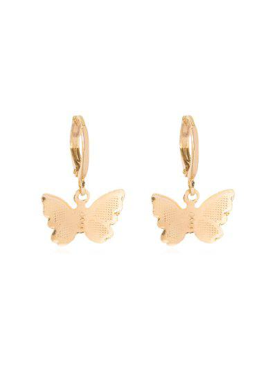 Butterfly Clip Earrings - Golden 2.2*1.5cm