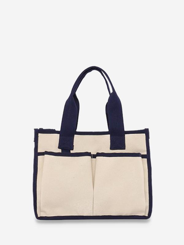 Big Pocket Canvas Unisex Crossbody Bag