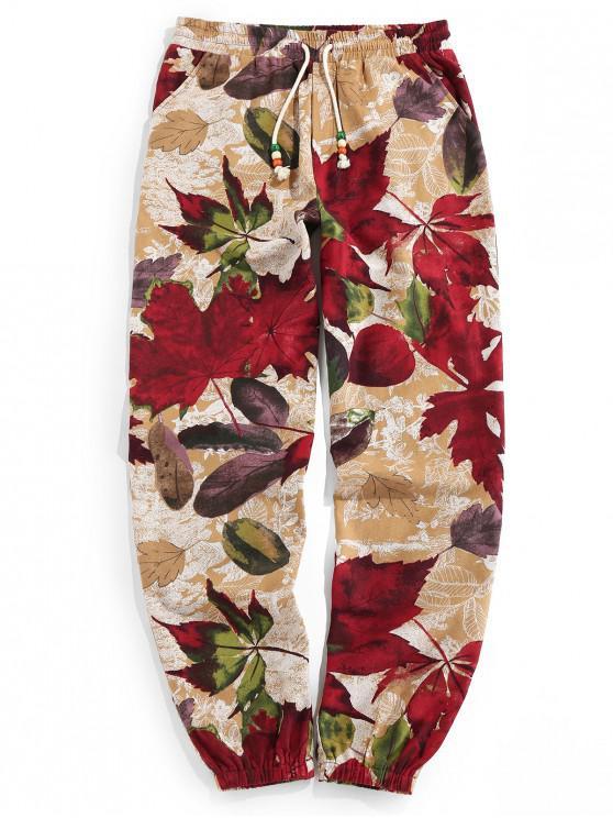 Pantalones Jogger Elásticos con Estampado Tribal - dorado XL