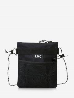 Casual Letter Square Crossbody Bag - Black