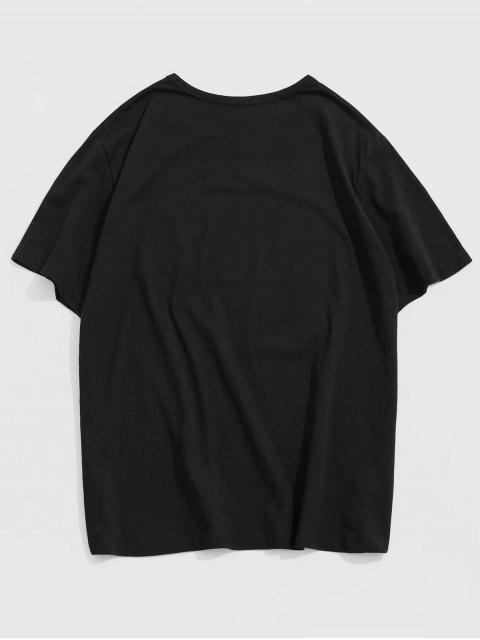 Daddy Graphic Short Sleeve Lounge T Shirt - أسود L Mobile