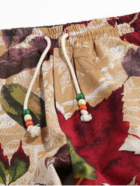 Pantalones Jogger Elásticos con Estampado Tribal - dorado S Mobile