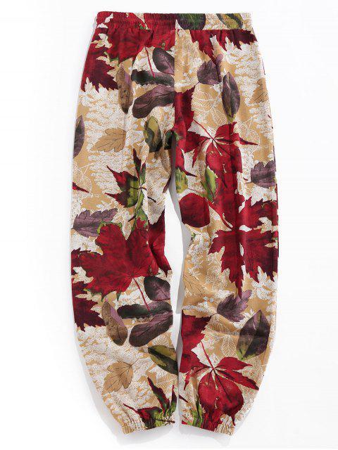 Pantalones Jogger Elásticos con Estampado Tribal - dorado XL Mobile
