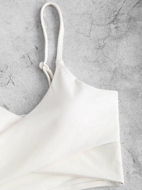 ZAFUL Gerippter Kreuzer und Querer Tankini Badebekleidung mit Blumenmuster - Multi-A M Mobile
