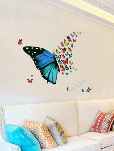 Colorful Butterflies Print Decorative Wall Art Stickers - Multi-a 30x45cm