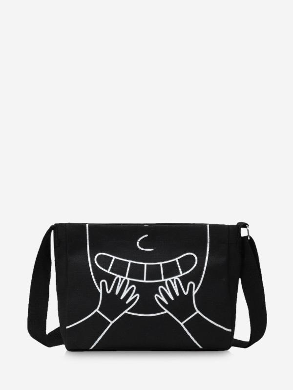 Cartoon Pattern Mini Canvas Sling Bag