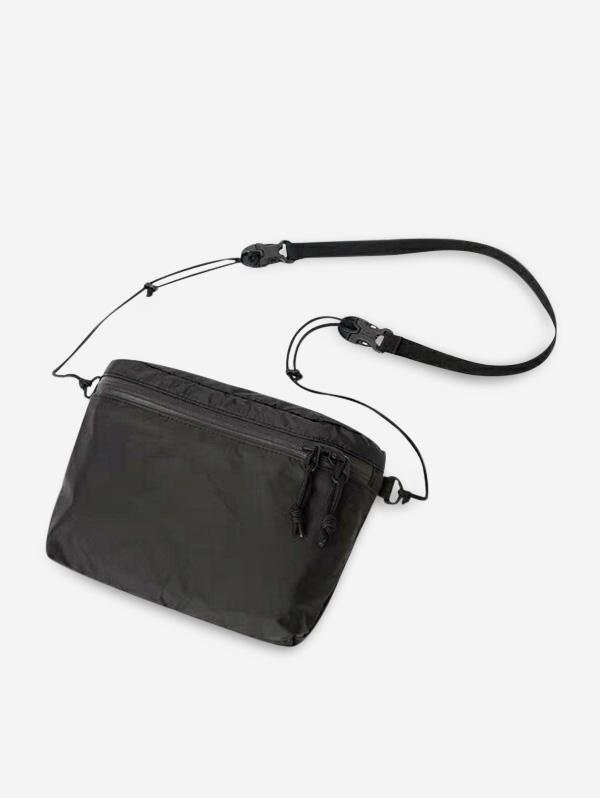 Zipper Pocket Nylon Casual Crossbody Bag