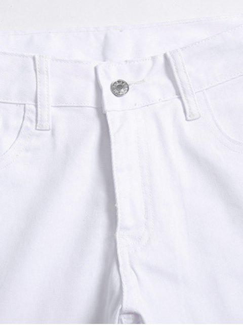PantalonCrayonZippé AngeenDenim - Blanc 32 Mobile