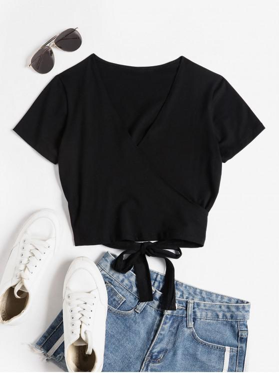 Camiseta Corta Cuello V - Negro S