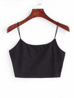 Cami Crop Tank Top - Black L
