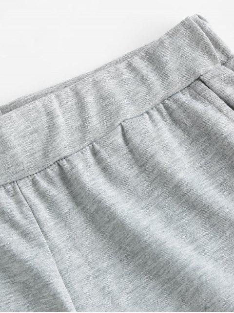 sale ZAFUL Pull On Pocket Cuffed Shorts - GRAY M Mobile