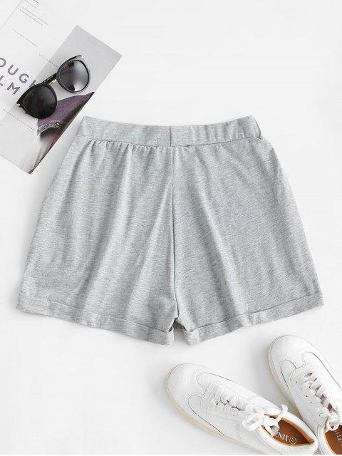 shop ZAFUL Pull On Pocket Cuffed Shorts - GRAY XL Mobile