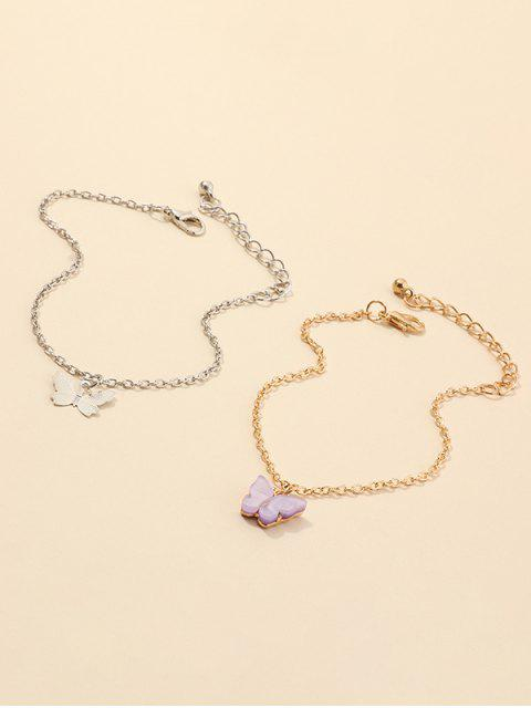 women's Alloy Butterfly Shape Charm Bracelets Set - MULTI-A  Mobile