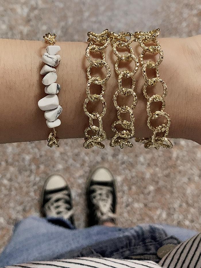 2Pcs Dual Purpose Necklace Bracelet Set