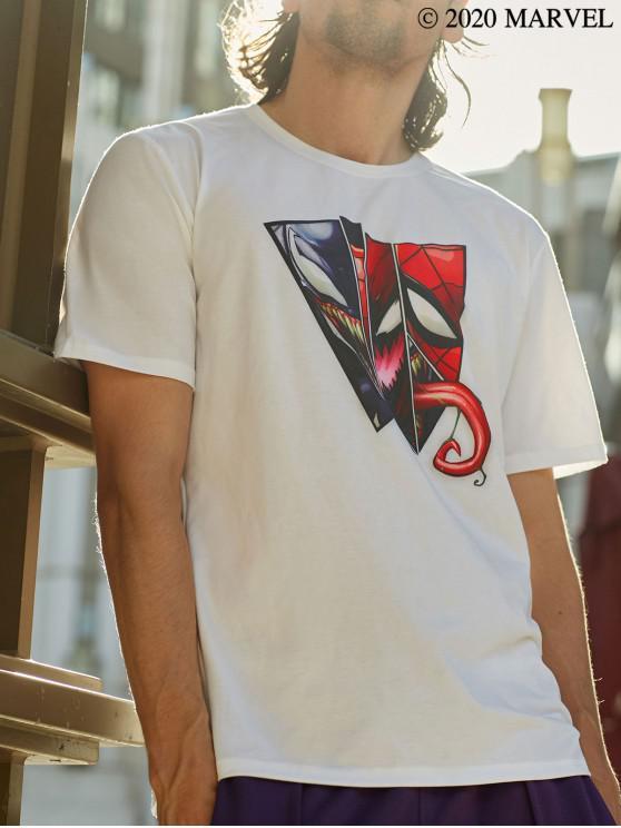 new Marvel Spider-Man Venom Basic T-shirt - WHITE XL