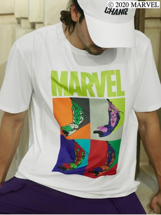 trendy Marvel Spider-Man Graphic Basic T Shirt - WHITE S