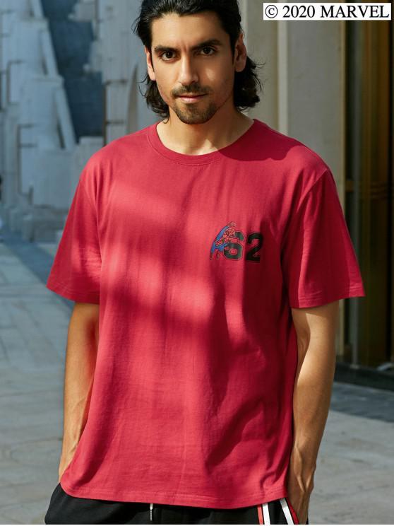 fashion Marvel Spider-Man Basic T-shirt - RED L