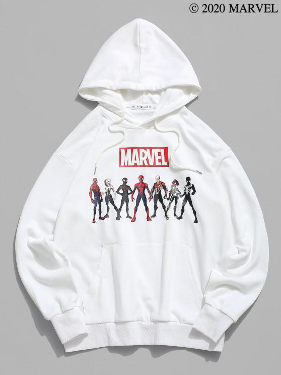 chic Marvel Spider-Man Spider-Girl Heroes Graphic Hoodie - WHITE 2XL