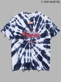 Marvel Spider-Man Graphic Tie Dye T Shirt - Slate Gray M