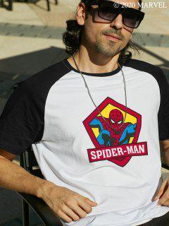CamisetaMarvelde Mangas CortasconEstampadodeSpider-ManyLetras - Blanco L