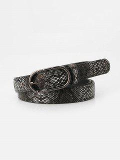 Snakeskin Pattern Jeans Pin Buckle Belt - Multi-c