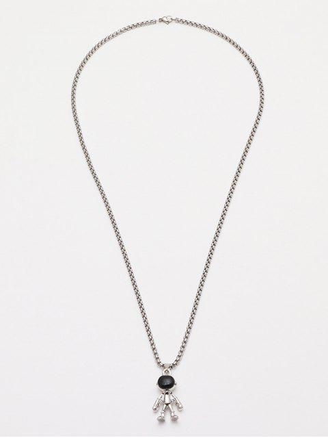 buy Astronaut Pendant Chain Necklace - SILVER  Mobile